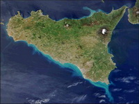 Фотография Сицилии из космоса