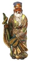 Японская антикварная статуэтка одного из