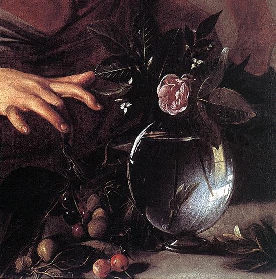 "1594 Меризи да Караваджо ""Мальчика укусила ящерица (фрагмент)"""