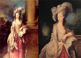 Портрет дамы (Т. Гейсборо и А. Флури)
