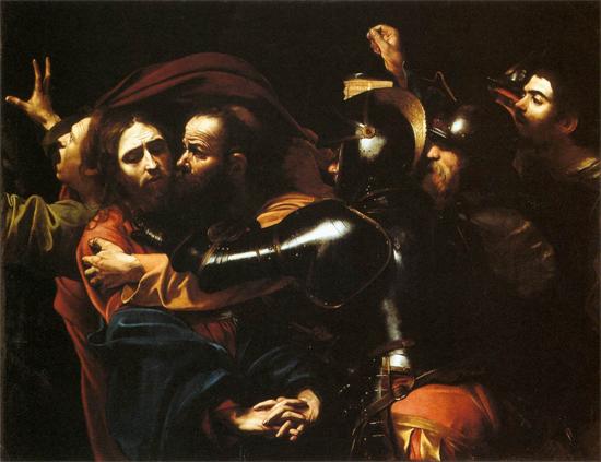 "1598 Меризи да Караваджо ""Принимая Христа."""