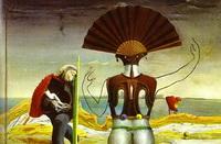 Женщина, старик и цветок (М. Эрнст, 1923-1924 г.)
