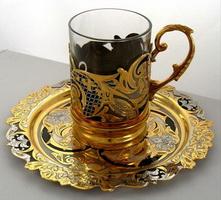 Чайный набор (Златоустовская гравюра на стали)