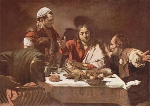 Христос в Эммаусе. (Меризи да Караваджо)