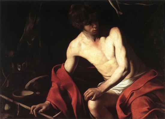 "1603 Меризи да Караваджо ""Иоанн Креститель."""