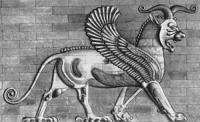 Керамический рельеф из дворца в Сузах