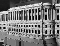 Архитектор В.И. Баженов. Фрагмент деревянного макета Московского Кремля