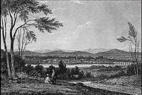Вид Сантьяго в 1840 г. (П. О`Хиггинс)