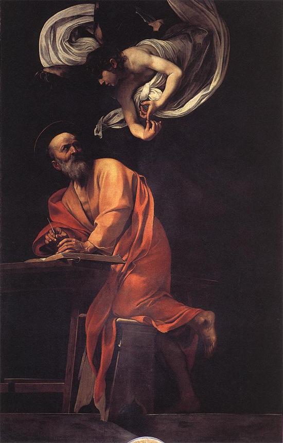 """1602 Меризи да Караваджо """"Вдохновение Матфея."""""""