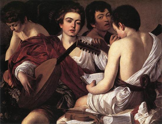 """1595 Меризи да Караваджо """"Музыканты."""""""