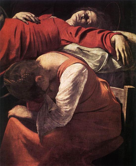 """1605 Меризи да Караваджо """"Смерть Богородицы."""""""