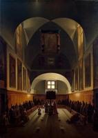 Картина Ф. Гране Внутренний вид хоров церкви капуцинского монастыря в Риме