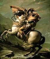 Наполеон на Святом Бернарде (Жак Луи Давид)