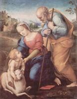 Рафаэль Санти. Святое семейство с ягнёнком. 1507. Прадо