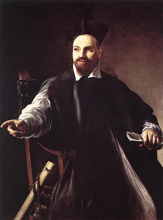 """1599 Меризи да Караваджо """"Портрет Маффео Барберини."""""""
