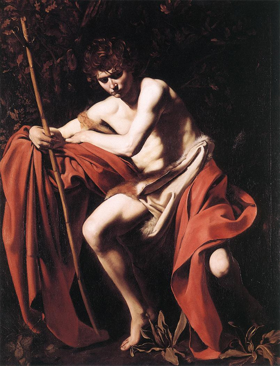 "1604 Меризи да Караваджо ""Иоанн Креститель."""