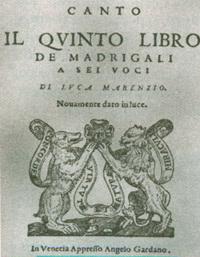 Титульный лист сборника мадригалов