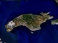 Спутниковый снимок острова Самос