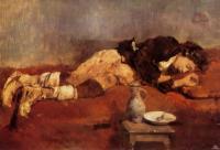 Спящий маленький савояр (Ханс фон Маре)