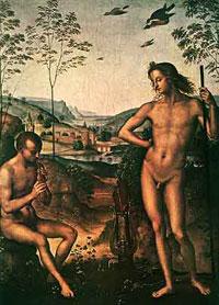 Апполон и Марсий (П. Перуджино)