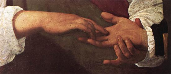 """1597 Меризи да Караваджо """"Гадалка (фрагмент)."""""""