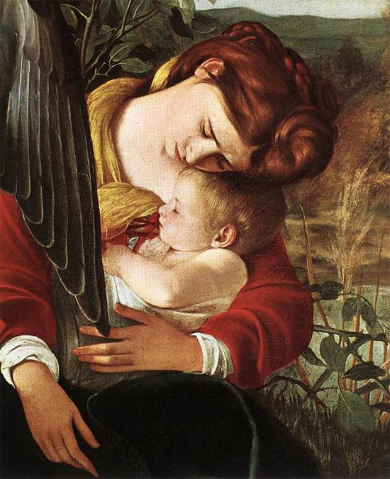 """1597 Меризи да Караваджо """"Отдых на пути в Египет (фрагмент)."""""""