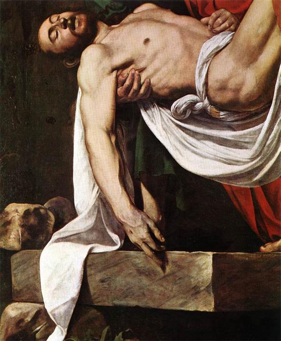 "1602 Меризи да Караваджо ""Положение во гроб (фрагмент)."""