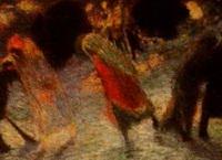 Покидающие театр (К. Карра, 1913 г.)