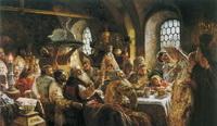 Боярский свадебный пир в XVII веке (К.Е. Маковский, 1883 г.)