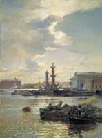 Петербургская биржа. 1891. Холст, масло