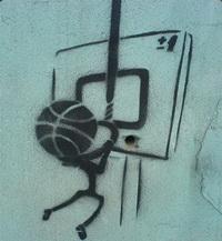 Трафарет Баскетбол на стене