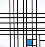 Композиция с синим (Пит Мондриан)