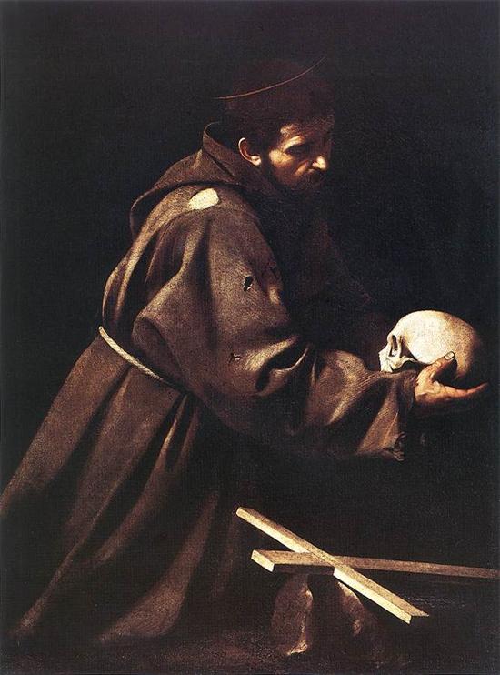 """1606 Меризи да Караваджо """"Святой Франциск."""""""