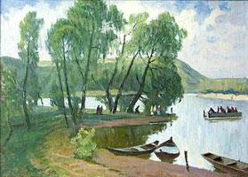 На берегу (А. Куренной, 1993 г.)